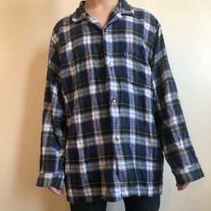 Men's vintage 90s grunge style large flannel